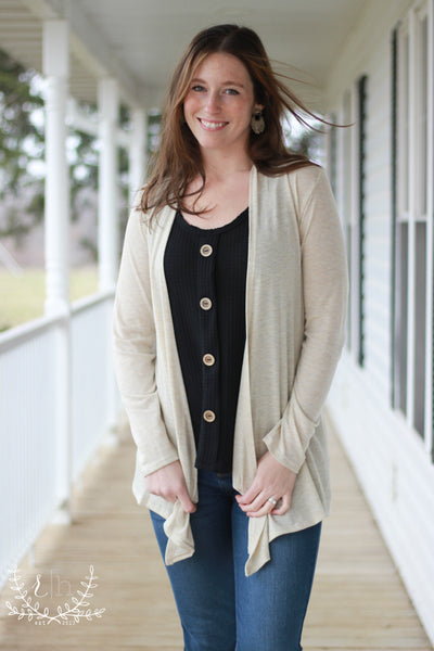 Oatmeal Light Sweater Cardigan