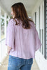 Washed Lavender Front-Tie Blouse