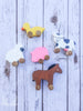 Handmade Wooden Baby Farm Animal Toy Set