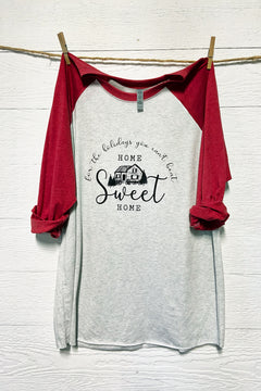 Home Sweet Home For The Holidays - Black Print Tee by Rustic Honey