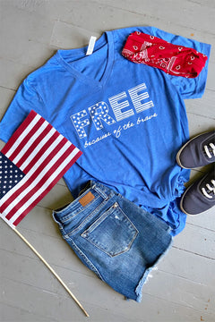 FREE because of the brave tee