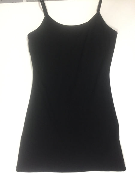 Solid Basic Cami Tank-Black