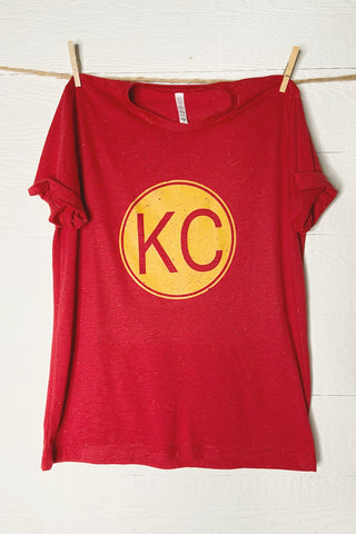 KC Chiefs Football Vintage Inspired Tee