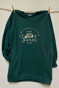 Home Sweet Home For The Holidays - LIMITED Hunter Green Sweatshirt