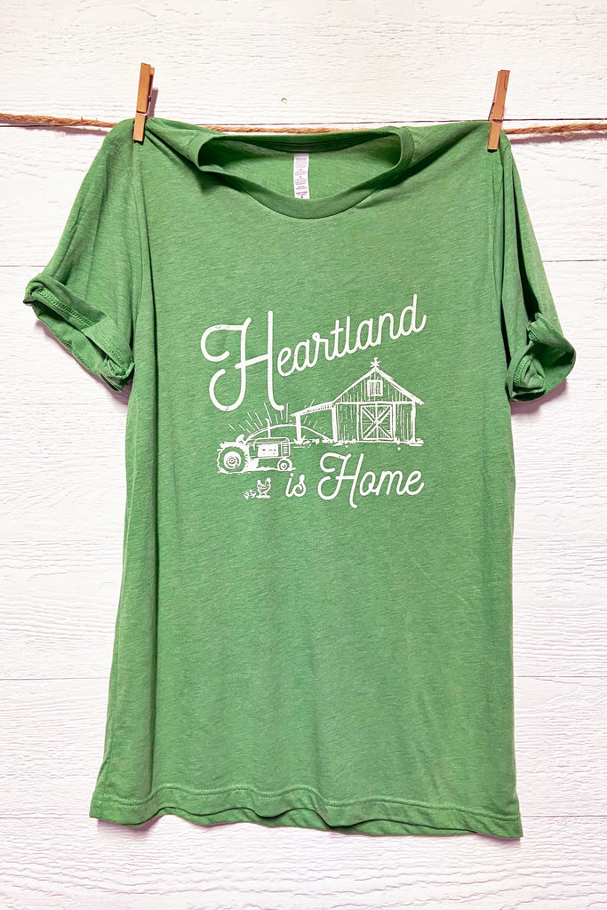 Heartland is Home - White Print Graphic Tee