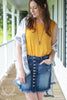 Jersey Knit Shell Tank Top - Mustard
