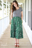 Kelly Green Floral Prairie Skirt