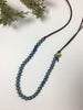 Long Blue Beaded Handmade Necklace by Seeds