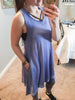 Pale Blue Soft Terry Knit Tank Dress w/Pockets