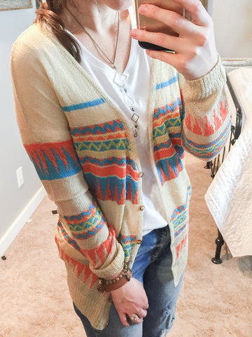 Colorful Aztec Cardigan