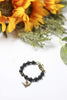 Free Bird Black Stone Bracelet by Liz Cole