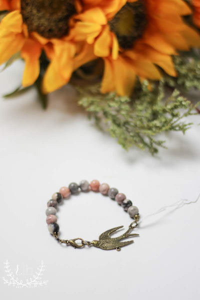 Free Bird Beaded Bracelet by Liz Cole