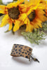 Handmade Cheetah Leather Cuff Bracelet by Liz Cole