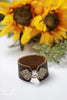 Handmade Leather Cuff Bracelet With Hinge by Liz Cole