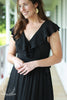Black Ruffle Maxi Dress