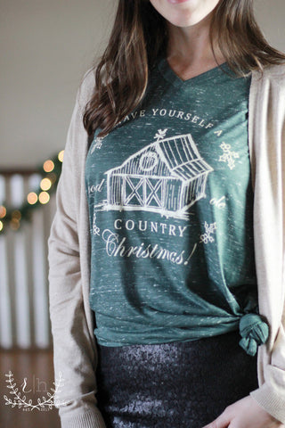 Have Yourself A Good Ole Country Christmas Tee - RH Label