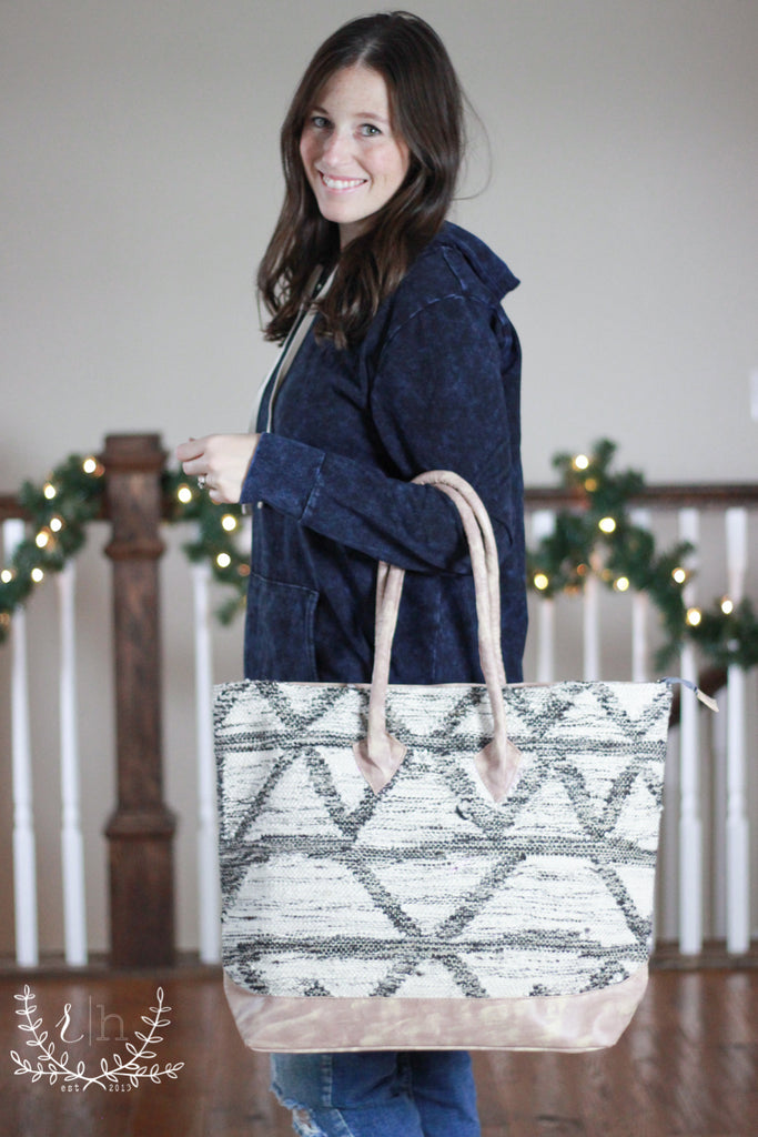 Woven Large Shoulder Tote Bag