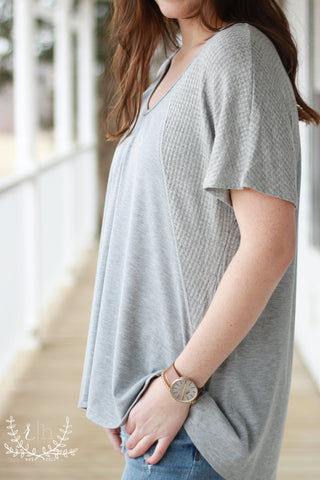 Gray Comfy Thermal Relaxed Tee