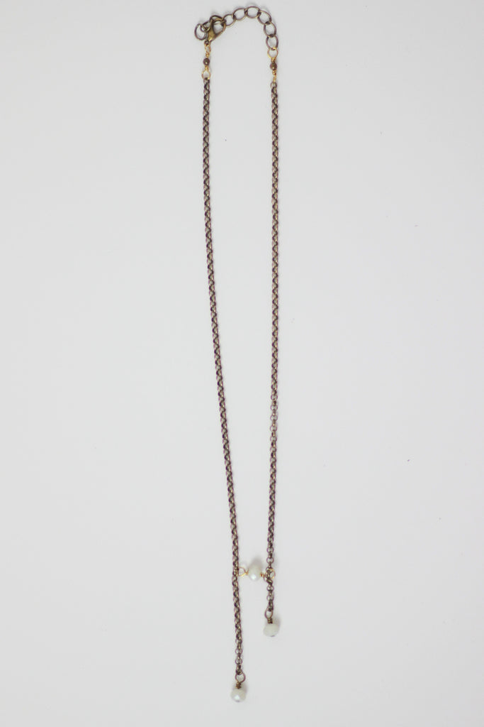 Oblong Layering Necklace by Seeds Jewelry
