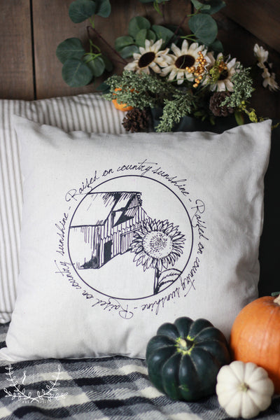 Raised On Country Sunshine Pillow Cover