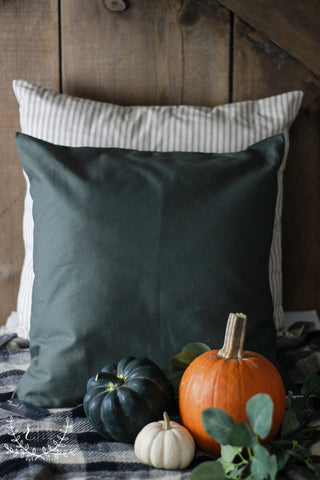 Solid Olive Green Accent Pillow Cover
