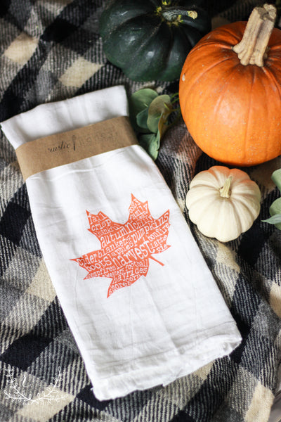 Leaves Are Falling Tea Towel