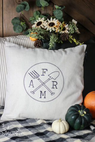 The Farm Pillow Cover