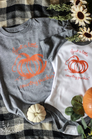 Lil Country Punkin' Kids' Fall Graphic Tee