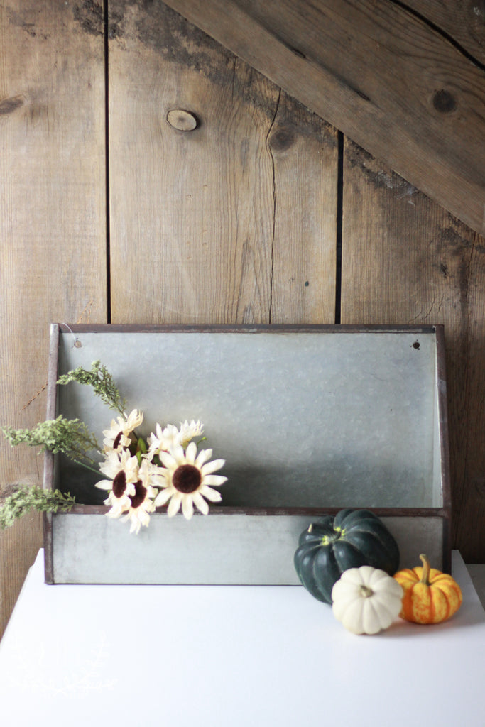 Farmhouse Metal Wall Pocket