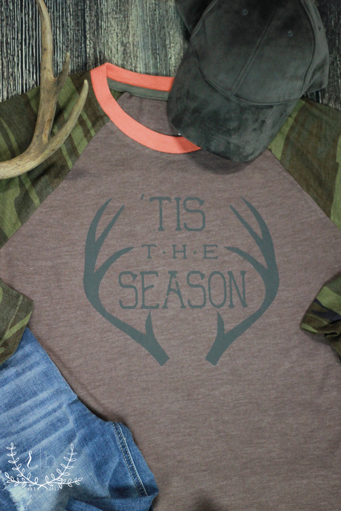 Tis The Season Baseball Raglan Tee - RH Label