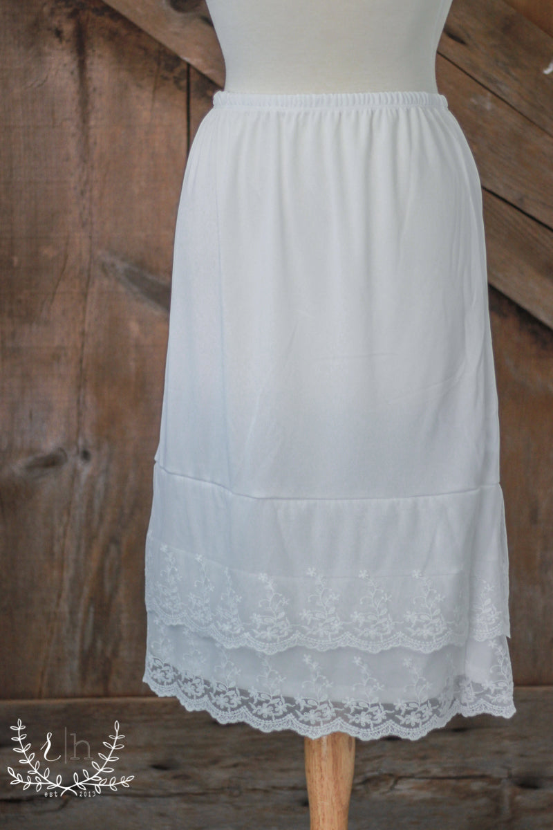 898a909fe Ivory Lace Dress Slip Extender - Rustic Honey – Rustic Honey