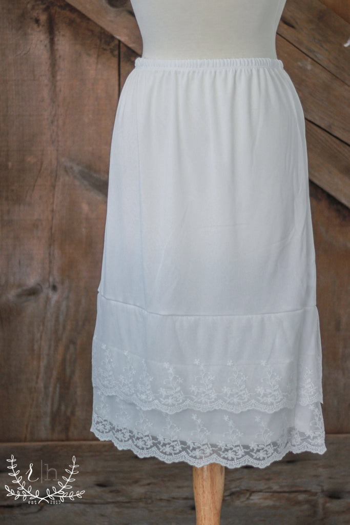 Ivory Lace Dress Slip Extender