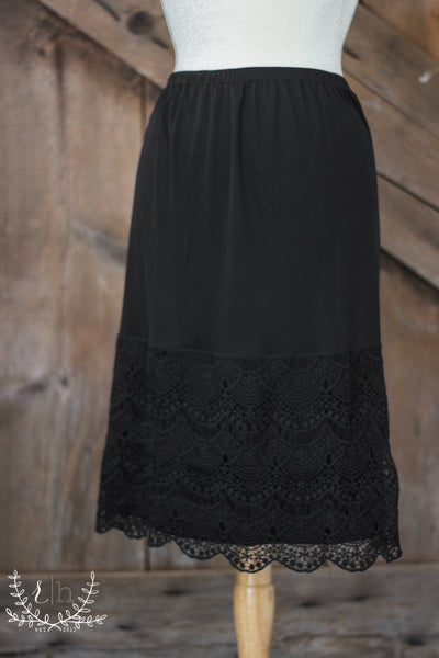 Black Lace Dress Slip Extender