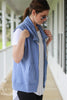 Heather Blue Athleisure Vest With Pockets