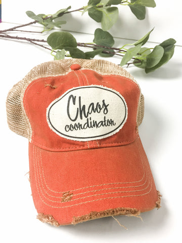 Chaos Coordinator Distressed Baseball Hat