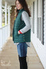 Hunter Green Quilted Puffer Vest