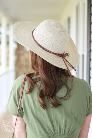 Spring Ivory Straw Woven Hat