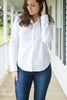 Basic White Button Up Blouse