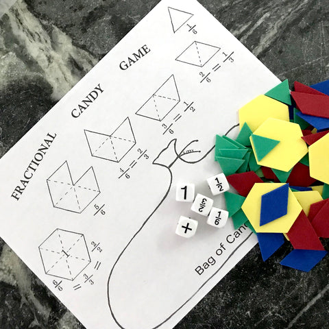 Pattern Blocks, Dice, and Game Sheets