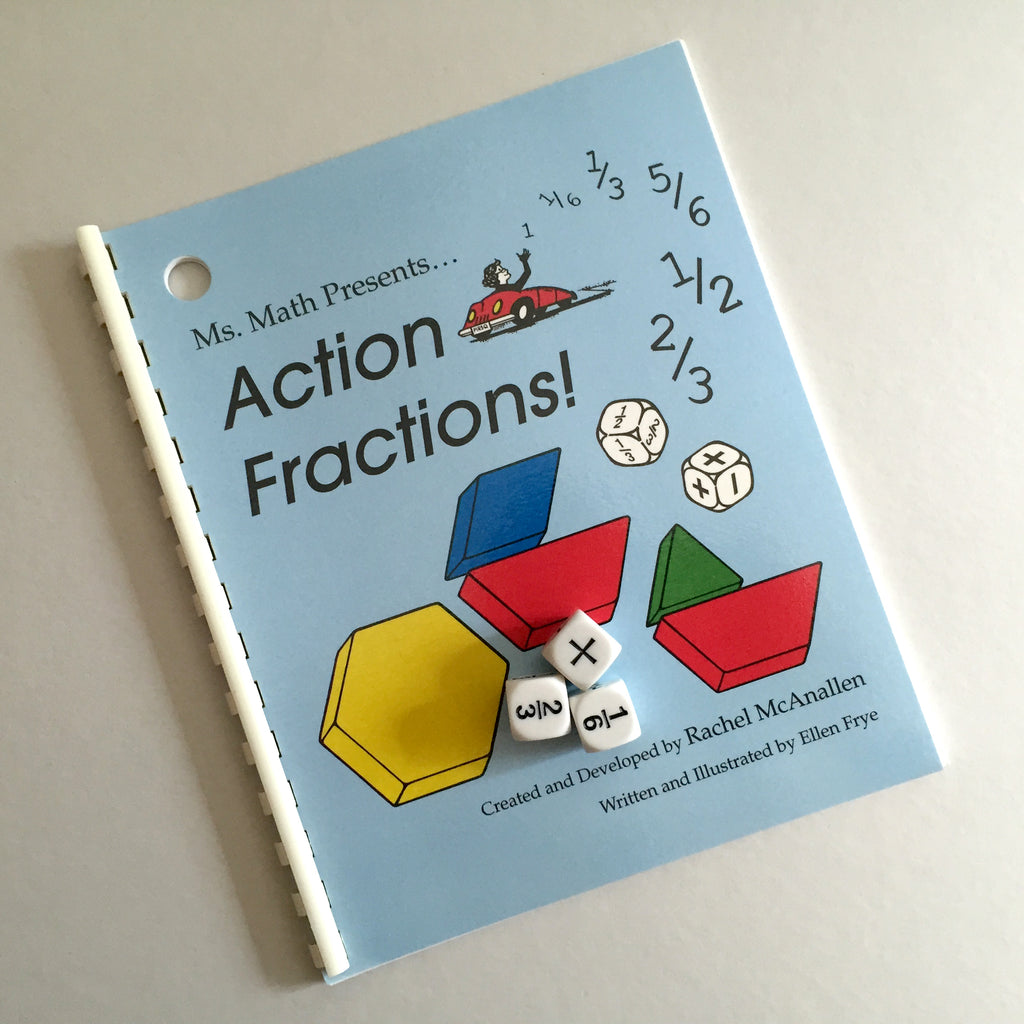 Action Fractions Book and Dice