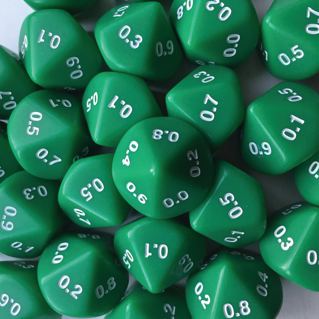 Decahedral tenths dice (0.0-0.9)