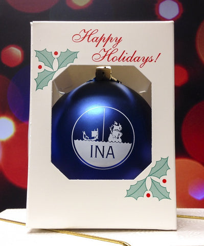 INA logo tree ornament (free with any purchase)