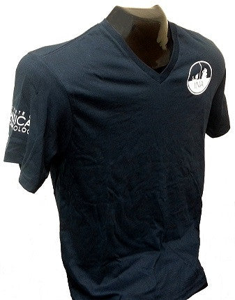 INA logo V-neck shirt with short sleeves
