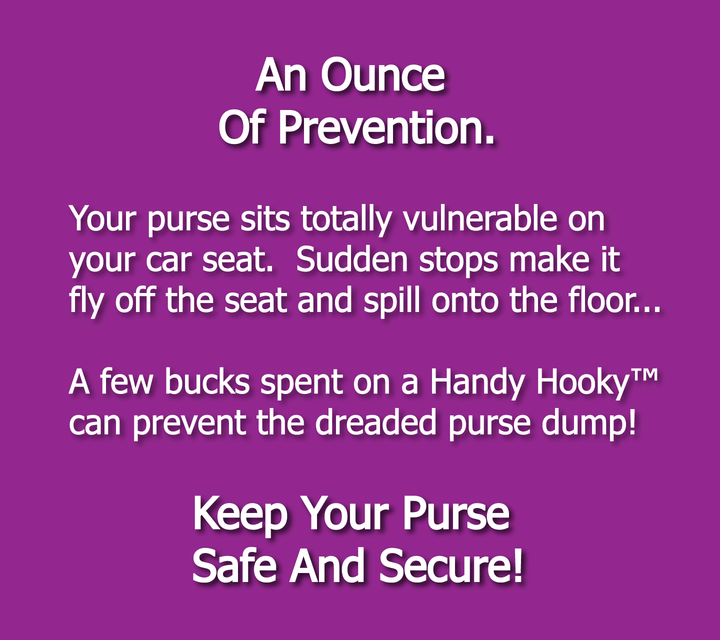 Keep your purse safe and secure with Handy Hooky