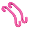 Premium Purse Hooks - Pack of 4 (2 Black & 2 Hot Pink)