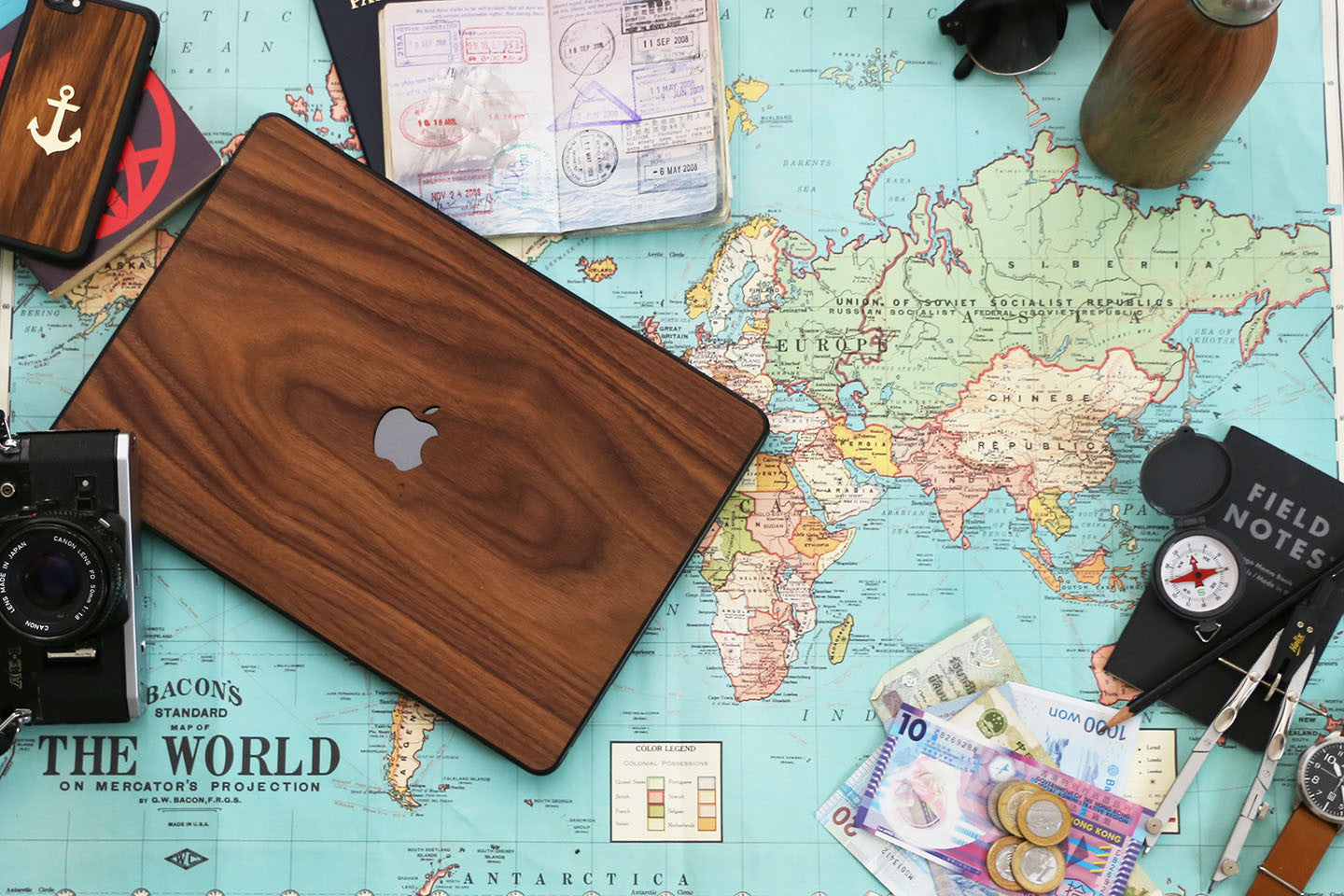 Real Wood MacBook Case Walnut Pro Air TouchBar