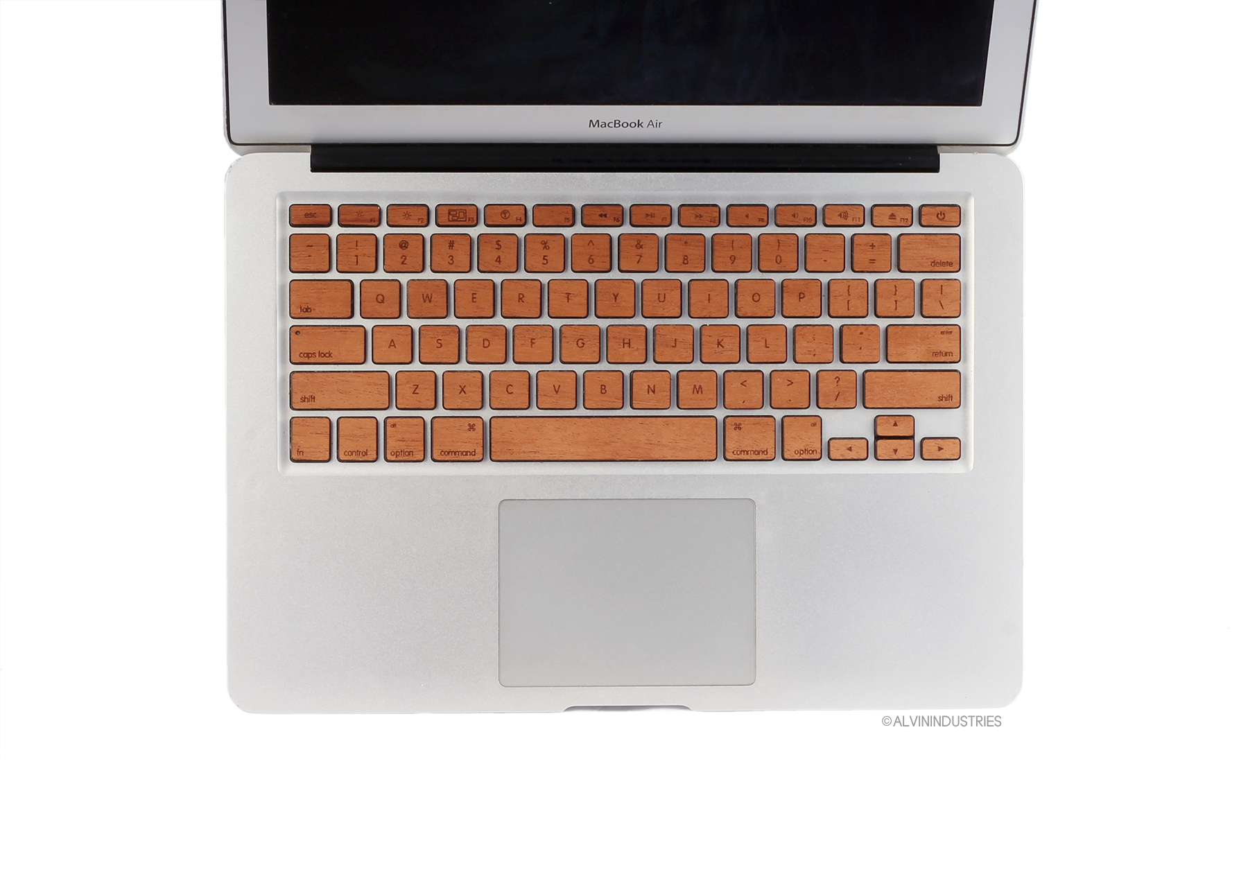 Real Mahogany Wood MacBook Keyboard Skin, Decal