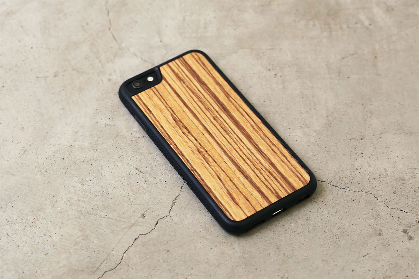 Real Wood iPhone Case - Zebrawood