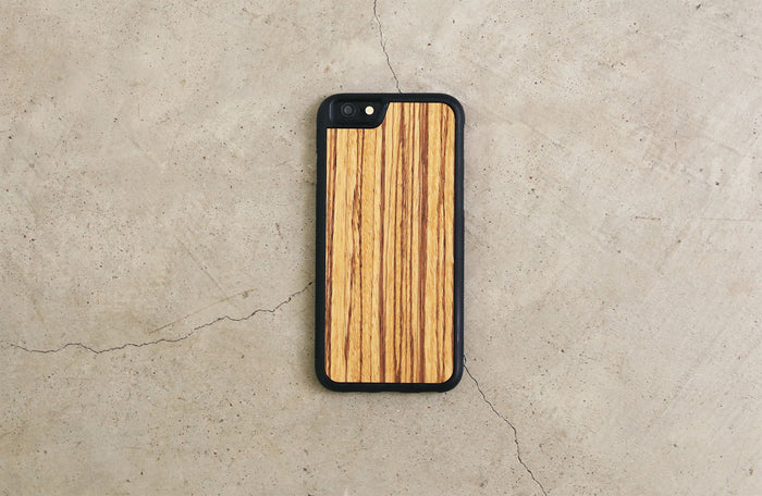 Real Wood iPhone Case Zebrawood 5 5S 6 6S 6 Plus 7