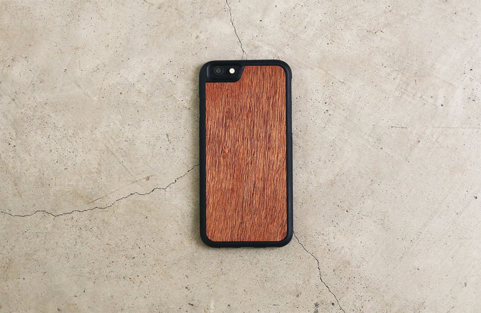 Real Wood iPhone Case Mahogany 5 5S 6 6S 6 Plus 7